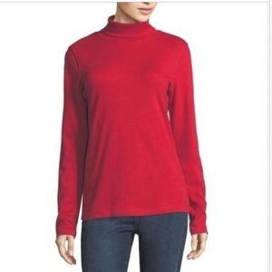 St. Johns Bay Turtle Neck Red Sweater/Shirt Sz 1X